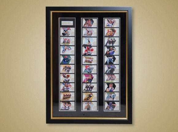 Commemorative Stamps of the London Oympics Gold Medal Winners 2014
