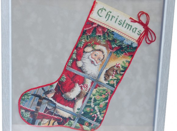Christmas Cross stitch stocking