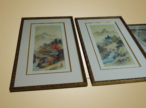 Antique Oriental Silk paintings