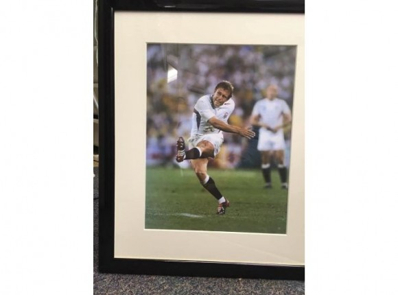 Rugby World Cup photos copied and framed
